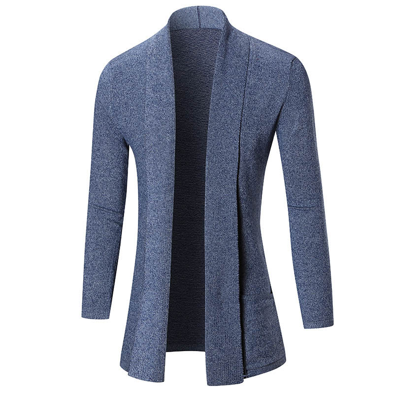 Men Fashion Spring Autumn England Style Long Sleeve Cardigan Sweaters Fashion Brand Slim Fit Casual Male Sweater