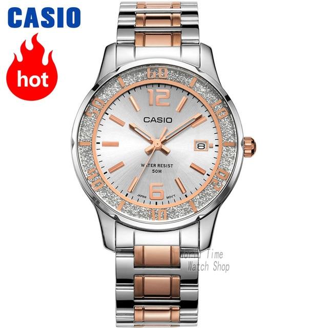 bd6594e15ff Relógio Casio Analógico ponteiro do relógio relógio de quartzo das Mulheres  puro elegante LTP-1359