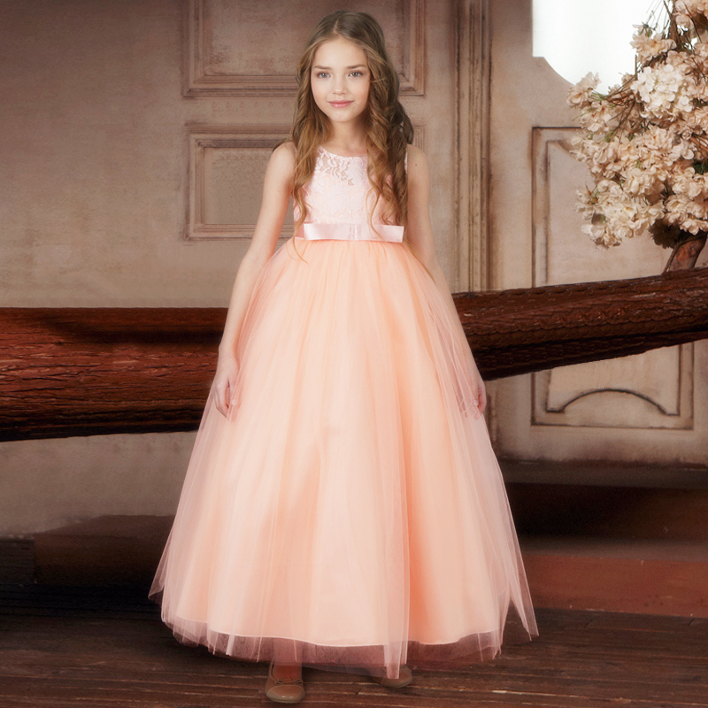 Flower Girl Dresses For Girls Wedding Party Tulle Graduation Wear ...