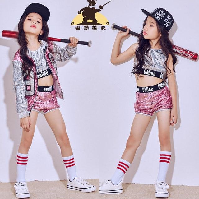 new children s costumes girl jazz dance hip hop modern dance costume