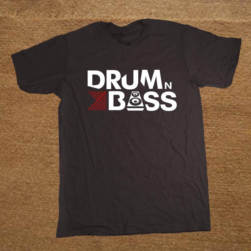 Брендовая одежда Барабаны N Bass забавная футболка Для мужчин хлопок футболка с короткими рукавами Топ Camiseta