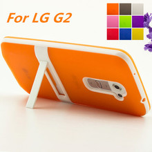Ultra-thin PC Frame Soft Case Cover For LG G2 D802 F320 TPU Silicon Case For LG G2 LS980 Matte Feeling Capa Fundas Free One Film