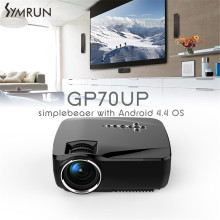Wifi Android 4.4 GP70UP LCD Proyector del Teatro Casero 1200 Lúmenes Beamer Soporte Bluetooth DLNA Miracast Airplay EZCast