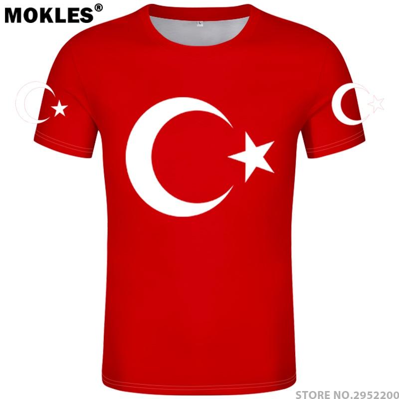 TURQUIA t camisa diy livre número de nome personalizado tur T-Shirt - Roupas masculinas