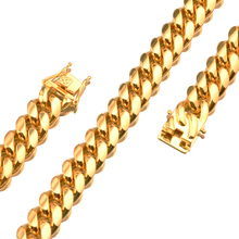 Granny Chic 7-40 Inches Miami Curb Cuban Link Chain For Men 14mm Wide Necklace Or Bracelet Jewelry Trendy Stainless Steel Gold