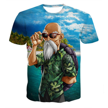 Hipster Master Roshi t shirts tops Women Men Summer Fashion Short Sleeve tshirts 3D t shirt Anime Dragon Ball Z T-Shirts NJ014
