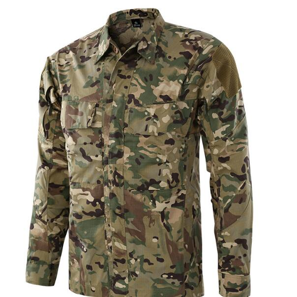 Полевая Боевая тренировочная тактическая рубашка Мужская Уличная походная клетчатая ткань износостойкая камуфляжная дышащая Военная Рубашка - Цвет: CP
