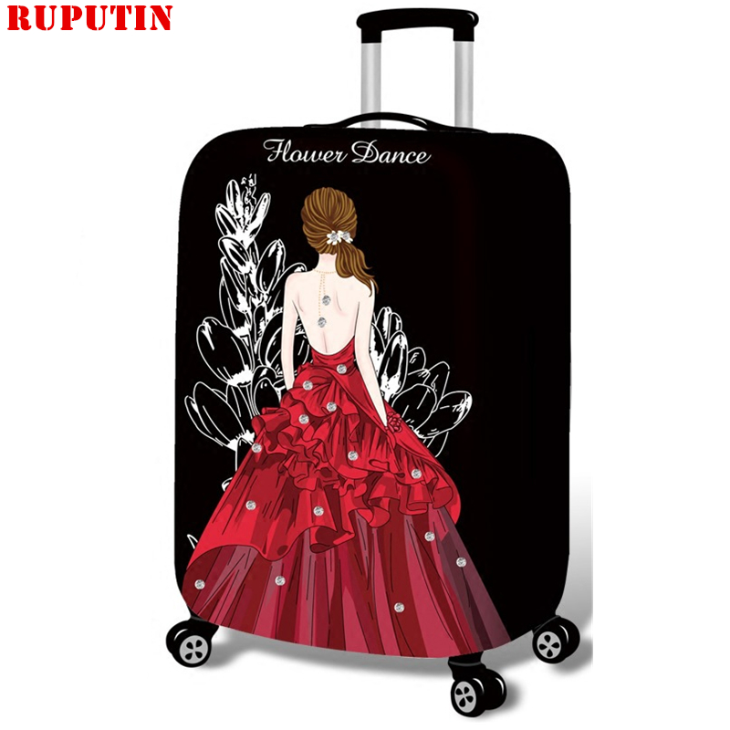RUPUTIN Suitcase Elastic Dust Cover Luggage Dust Cover For 18-30 Inch Password Box High Quality Trolley Case Protective Covers