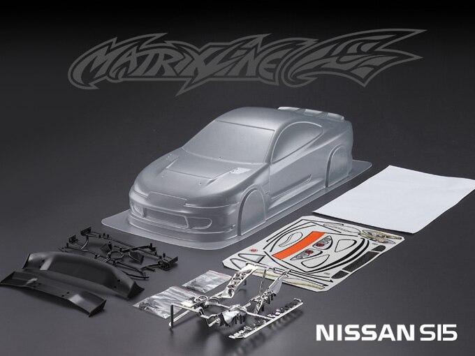 1 ensemble Silvia7 S15 1/10 1:10 RC coque de carrosserie 190mm largeur Transparent propre pas peint dérive coque de carrosserie RC hsp hpi trax Tamiya