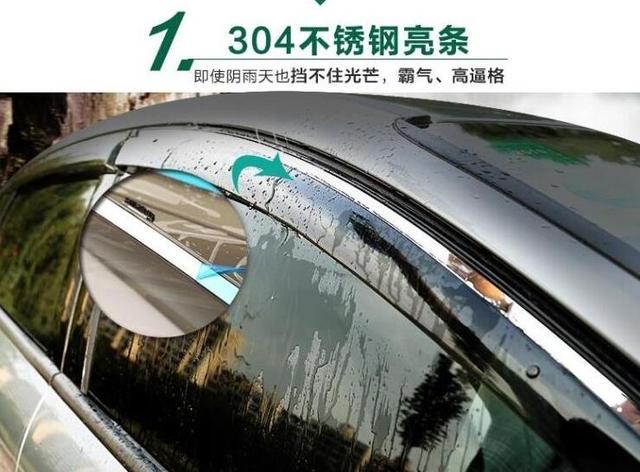 Ajuste Para Mazda3 M3 4dr Sedan 04-09 2004 2005 2006 2007 2008 2009 Nuevo Estilo de Mugen Visera de la Ventana de Ventilación Deflector Car styling