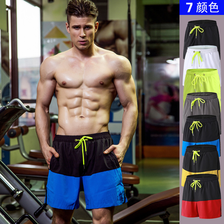New Quick Dry Summer mens Beach board shorts siwmwear bermudas bodybuilding shorts for Men Fitness mens gyms shorts