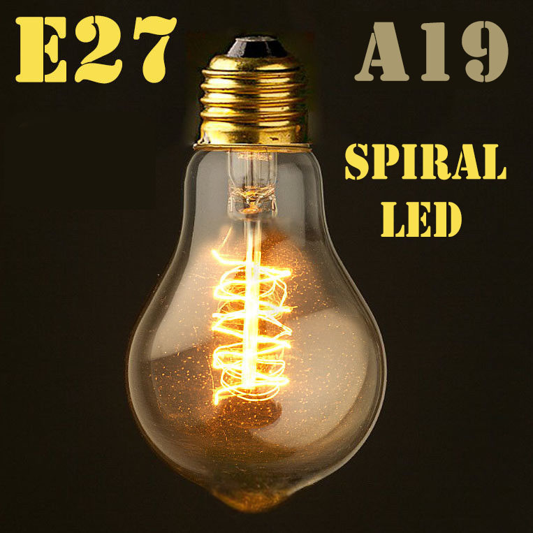 Image 4 - Dimmable E27/B22 T45 A60 ST64 G95 G125,Spiral LED Filament Light Bulb Retro Vintage Lamps Decorative Lighting-in LED Bulbs & Tubes from Lights & Lighting