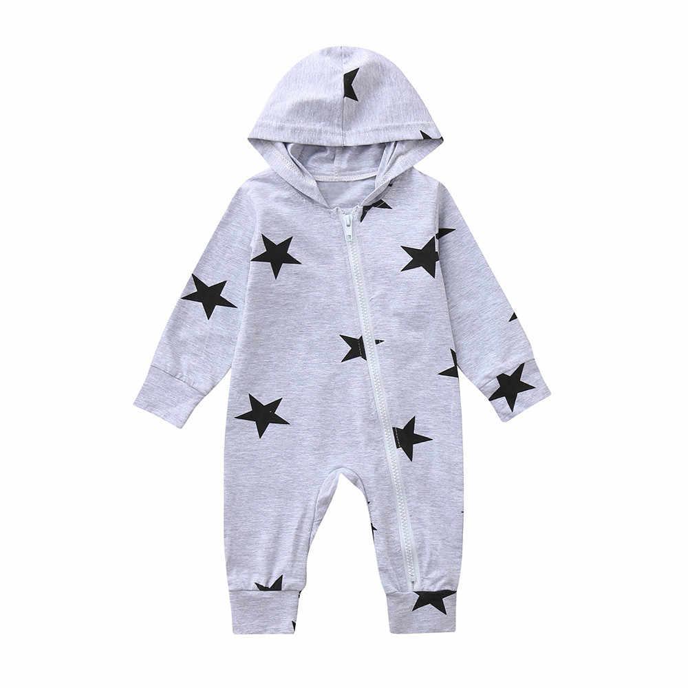 Модная одежда для новорожденного ребенка в Для мальчиков ясельного возраста для девочек куртка с капюшоном длинные трикотажные изделия с рукавом и детские комбинезоны комбинезон на осень и зиму, Детские комплекты одежды с рисунками