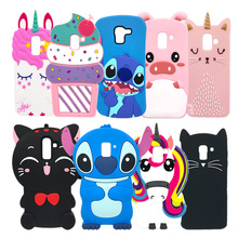 Phone Case For Samsung Galaxy J4 2018 Case J400 J400F Stitch Unicorn Cat Soft Silicone Back Cover For Samsung J4 2018 EU Case смартфон samsung galaxy j4 2018 j400 32gb черный