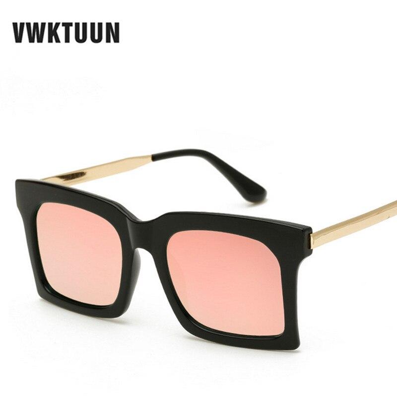 Mode Coréenne lunettes de Soleil Hommes Femmes Marque Designer Carré Miroir  de Lunettes De Soleil Rétro Large Cadre Shades lunettes de Soleil Homme  oculos ... 3100d2f2f086
