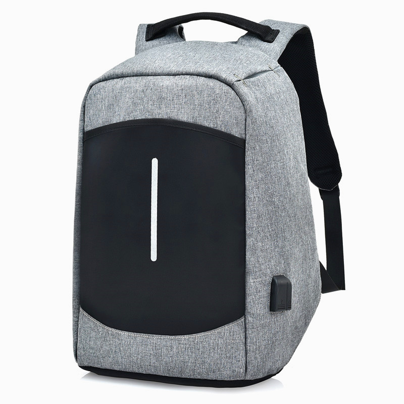 Hidden Zipper Anti-theft Laptop Backpack USB Charging Business Travel Bag Waterproof School Bags Teenage Backpacks for Girls