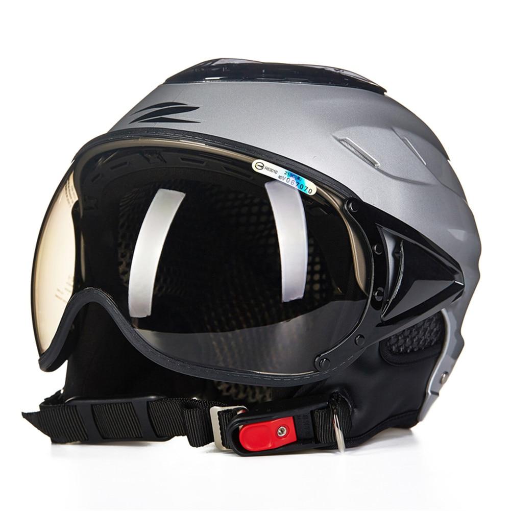 цена на ZEUS Motorcycle Helmet Open Face Half Capacete Da Motocicleta Cascos Para Moto Casque Kask Helm Scooter Helmets