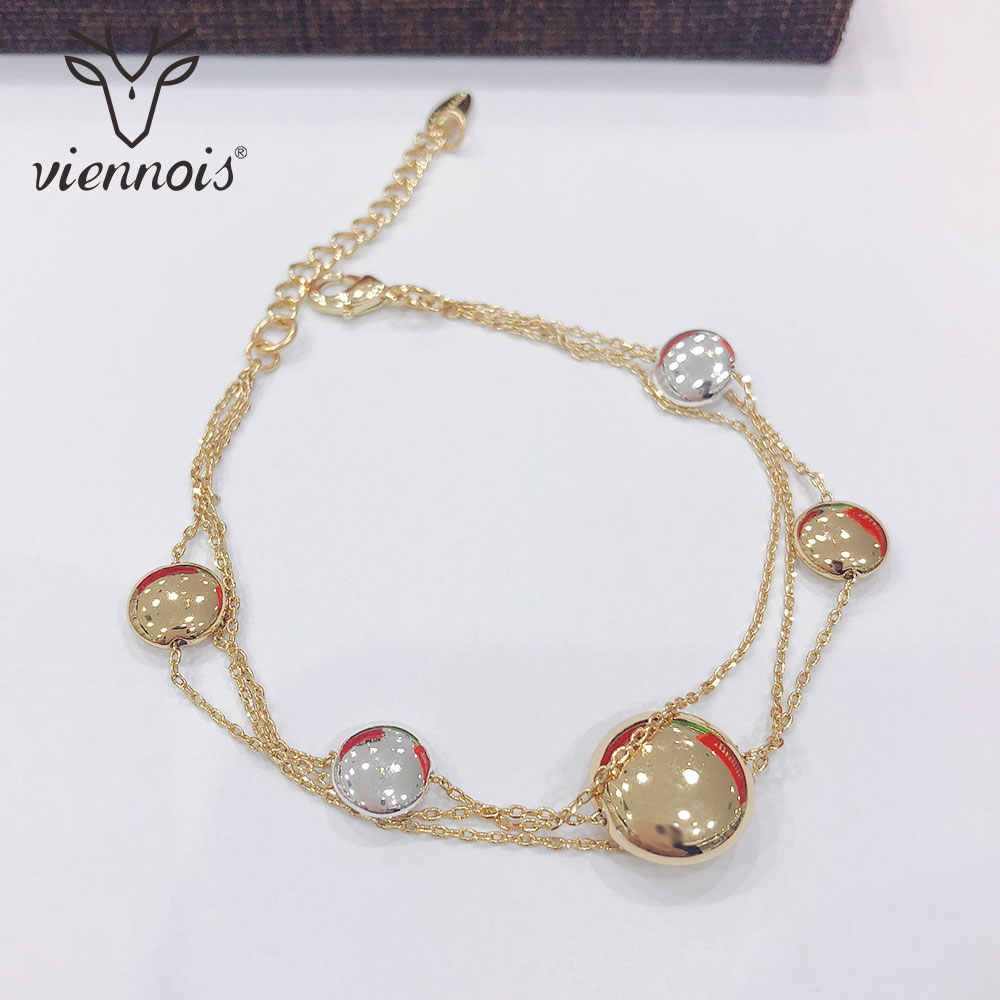 Viennois Fashion Gold Color Bracelet & Bangles For Women Chain Bracelet Trendy Wedding Jewelry
