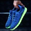 Мужчины LED Обувь Моды Растет Световой Обувь Девушку Любителей корзина Свет Обувь 7 цвета Плюс Размер 35-46 4d03