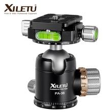 XILETU PA36 36mm כפול פנורמי כדור ראש כבד החובה 360 תואר חצובה ראש עבור מצלמה תואם עם Arca שוויצרי 18KG עומס