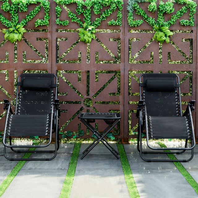 3PC Outdoor Zero Gravity Reclining Lounge Chairs w/ Table 2