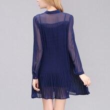 ElaCentelha Women Summer Autumn Dress Tops Chiffon Vintage Woman Dress Big Swing Loose Plus Size Dresses without slip dress