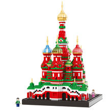 New World Famous Building Saint Basil's Cathedral Puzzle Assembling Model Building Blocks Kit Toys Kids Gifts(China)