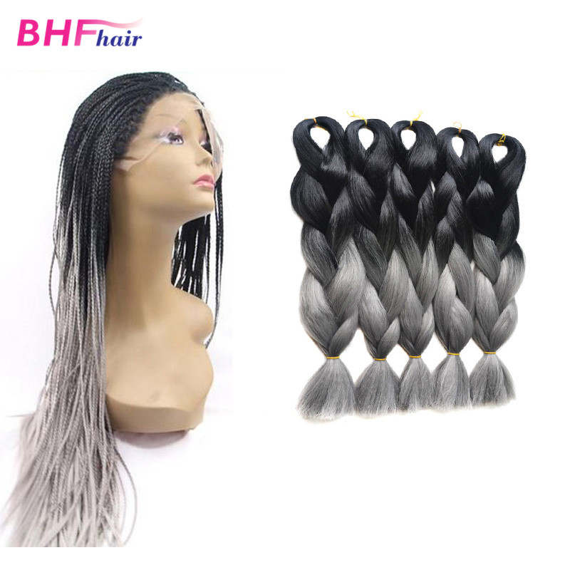 24smoky grey two tone color expression junbo purple ombre 24smoky grey two tone color expression junbo purple ombre synthetic kanekalon braiding hair weaves expression hair extensions on aliexpress alibaba pmusecretfo Images