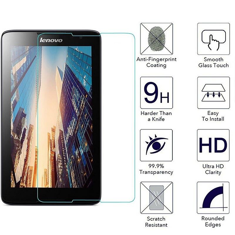 Galleria fotografica Tempered Glass For Lenovo Tab 4 8 10 Plus TB-X304L X304F X704L 3 710L 850F Yoga X90 X90F Tablet Screen Protector Protective Film