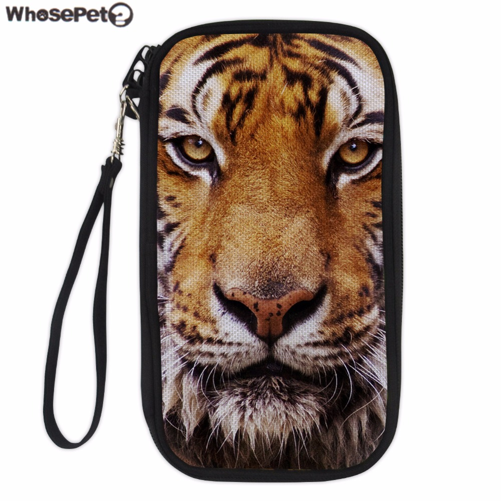 Hilarious Whosepet Women Wallet Case Tiger Print Passport Cover Credit Card Herfor Ladies Business Card Hers Durable Pouch Bag Card Idhers From Whosepet Women Wallet Case Tiger Print Passport Cover Cr