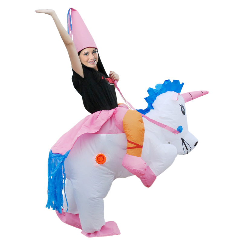 adults inflatable unicorn dinosaur costume inflatable t rex party princess dress halloween costume for kids in movie tv costumes from novelty special
