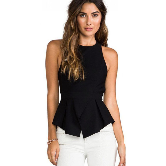 657d1eb5ea0cec Womens Tops Fasion 2016 Hot Sale Sexy Backless Slim Black Summer Tops Off  the Shoulder Tops for Women DYFZ-X-069