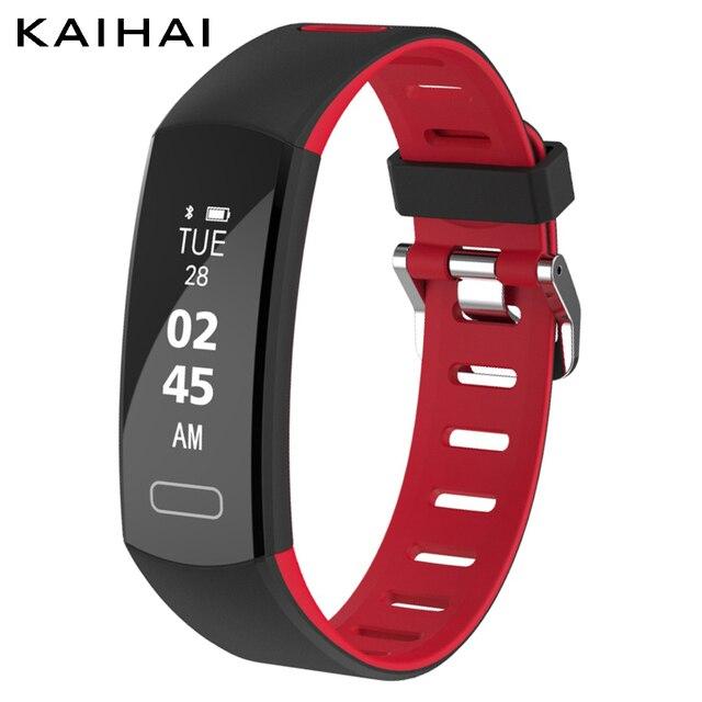 Kaihai Smart Wristband Fitness Bracelet Sleep Monitor Pedometer Wrist Band Alarm Clock Activity Tracker Wrisch
