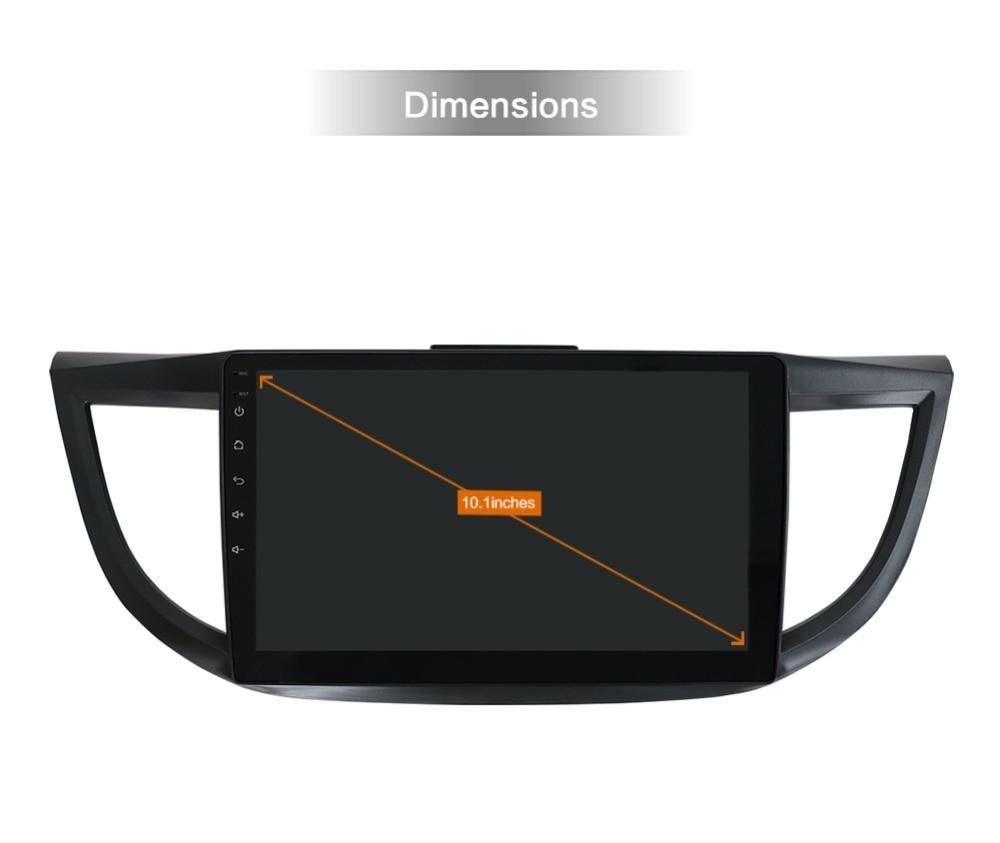 Sale 2din Android 9.0 Car Multimedia Player For HONDA CRV 2012 2013 2014-2016 GPS Navigation Wifi Bluetooth Camera 4G RAM 64G ROM 1