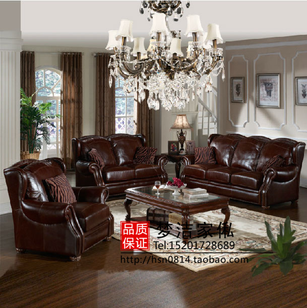 New Classical Fashion Leather Sofa Upscale Hotel Clubs Office Sofa Chair  Leather Antique American Furniture House In Garden Sofas From Furniture On  ...