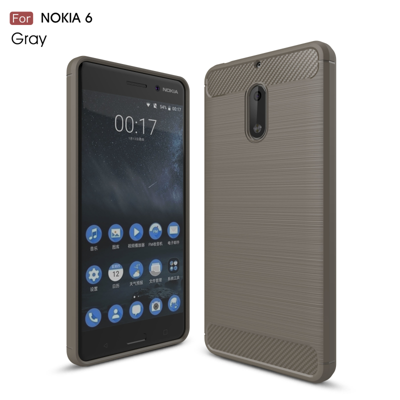 Hybrid Rugged Armor Carbon Fiber Brushed Phone Case For Nokia 3 5 6 Soft Silicone Shockproof Cover Fundas Coque Capa In Ed Cases From