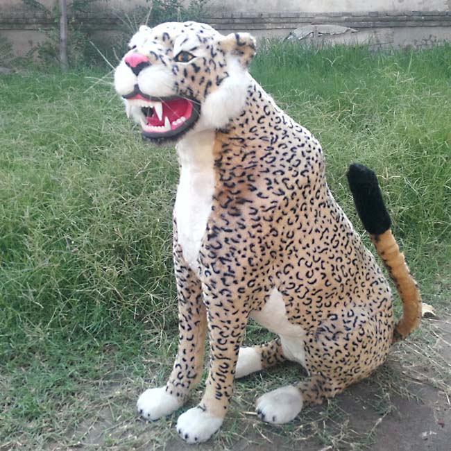 simulation leopard model plastic&fur toy large 72x25x70cm handicraft toy ,home decoration,Xmas gift w5883 large 24x24 cm simulation white cat with yellow head cat model lifelike big head squatting cat model decoration t187