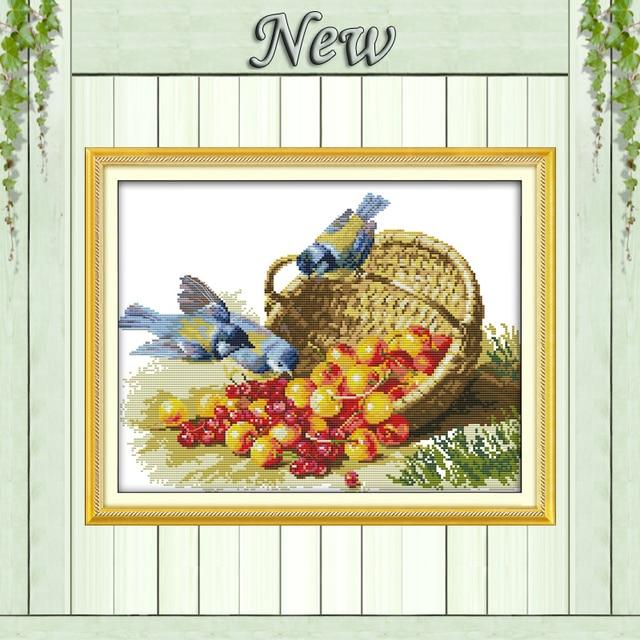 14CT 11CT принт ткани DMC ручной крестик, картины Товары для птиц и фруктов Вышивка крестом комплект, рукоделие Наборы Дизайн и декор