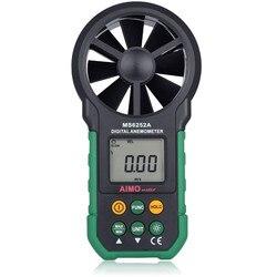 MASTECH MS6252A ręczny anemometr cyfrowy miernik prędkości wiatru przepływu powietrza Tester objętość powietrza środek TM