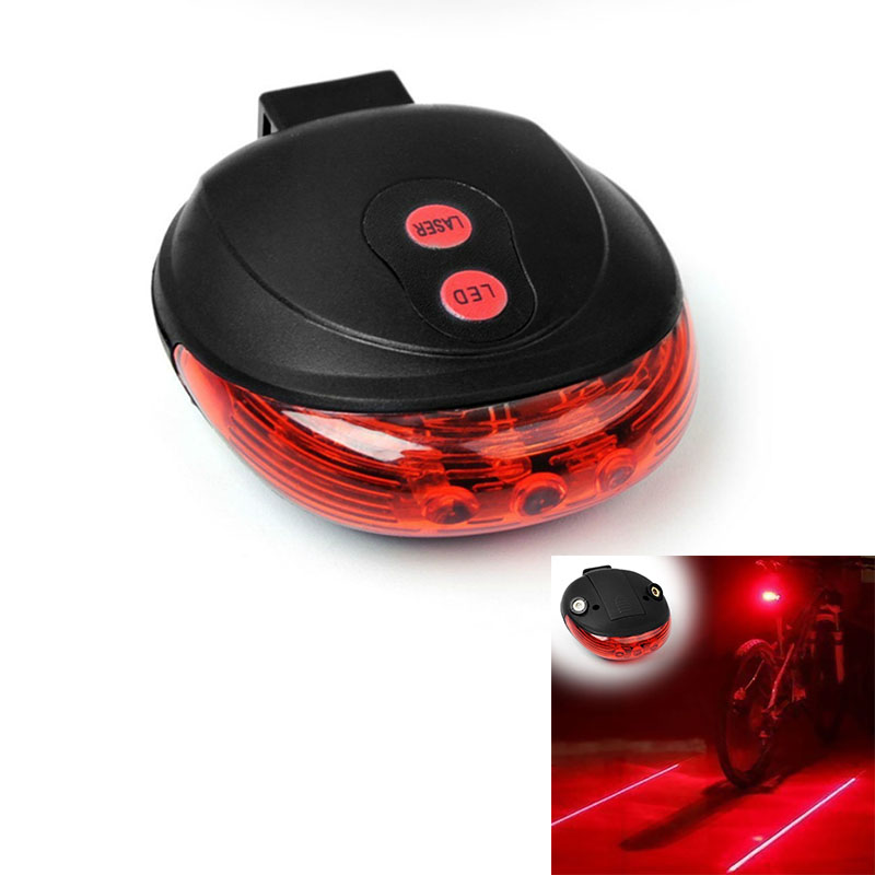Cycling Bicycle Lights (5LED+2Laser) Bike Tail Light 3 Modes Bicycle Light Waterproof Bike Rear Lights For Cycling Accessories