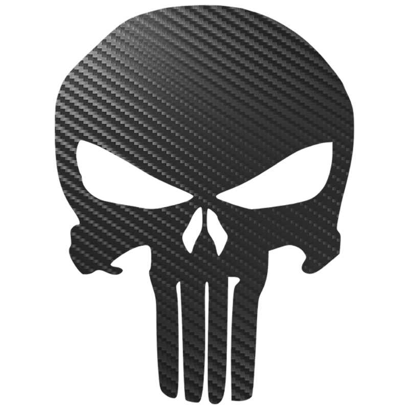 11.2CM * 15CM Punisher Schedel Bloed Auto Stickers 3D Carbon Fiber Vinyl Motorfietsen Decoratie Sticker op Auto's decals Styling