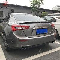 Carbon trunk spoiler Novitec Style For Maserati Ghibli Rear bumper Spoiler Wing 2014 2015 2016 2017 2018