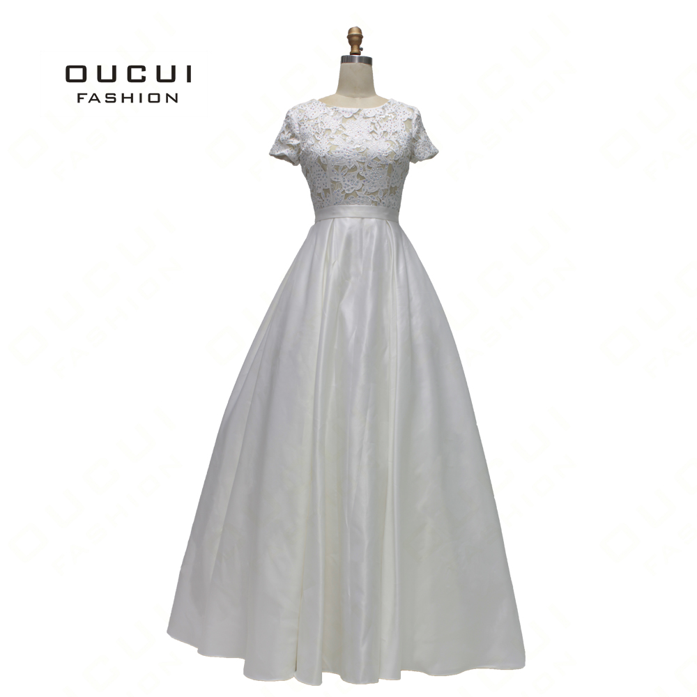 Off White Simple Wedding Party Women   Dress   Appliques Beaded Elegant Long   Prom     Dresses   2019 OL103179 Bride Formal Gowns African