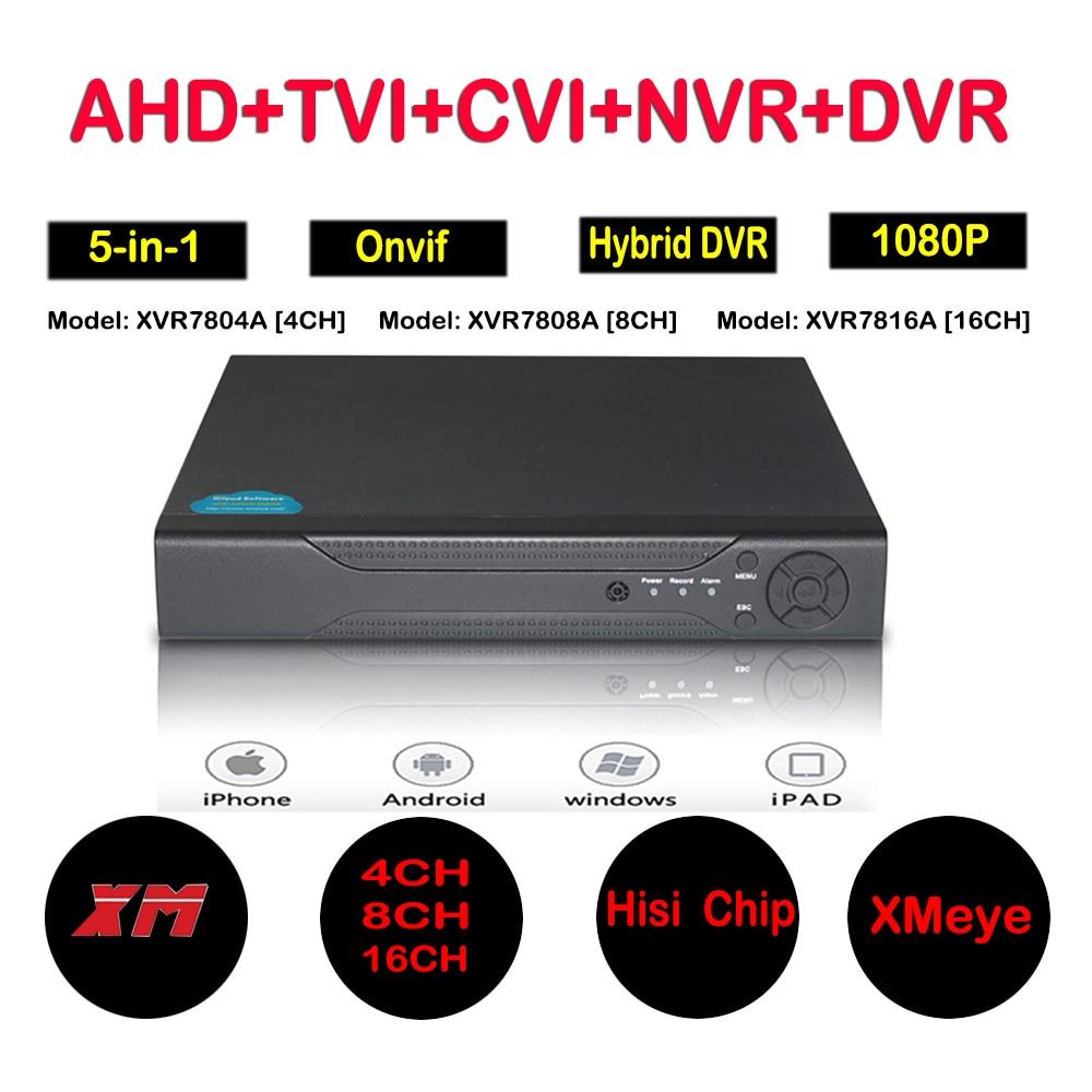 4ch 8ch 16ch 1080N Hybrid 5-in-1 AHD DVR (1080P NVR+1080N AHD+960H Analog +TVI+CVI) CCTV 8 channel Standalone dvr QR Code Scan цена
