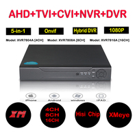 4ch 8ch 16ch 1080N Hybrid 5 In 1 AHD DVR 1080P NVR 1080N AHD 960H Analog