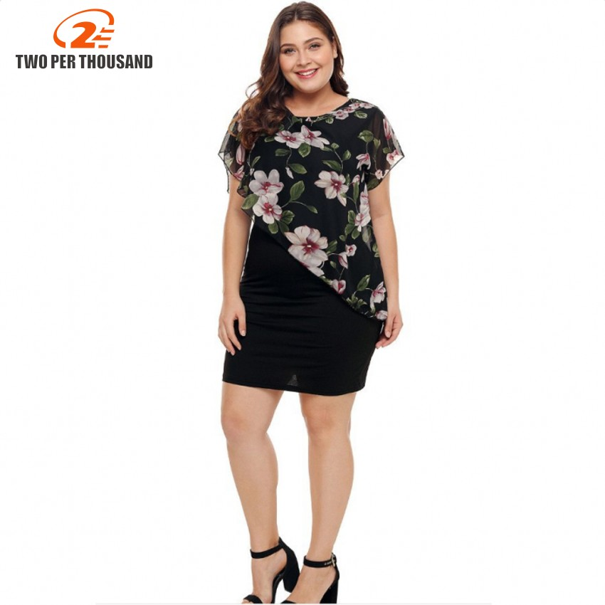 US $15.65 40% OFF Summer Plus Size 4XL Rose Valentine Overlay Capelet Dress  Women Clothing Chiffon Elegant Party Pencil Dress Vestidos-in Dresses from  ...