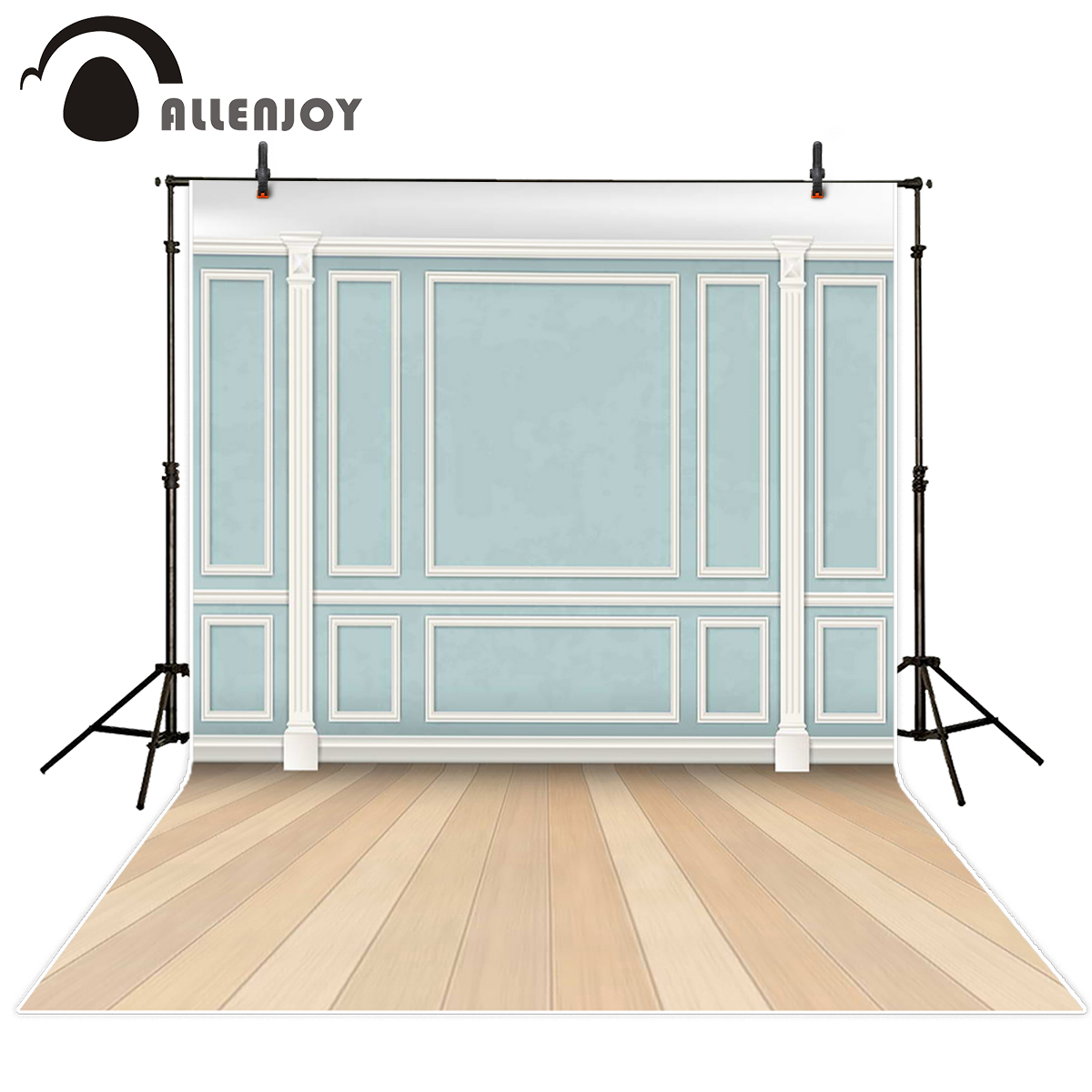 Allenjoy background studio Blue wall primary color wood backdrop photography backgrounds fantasy backdrops