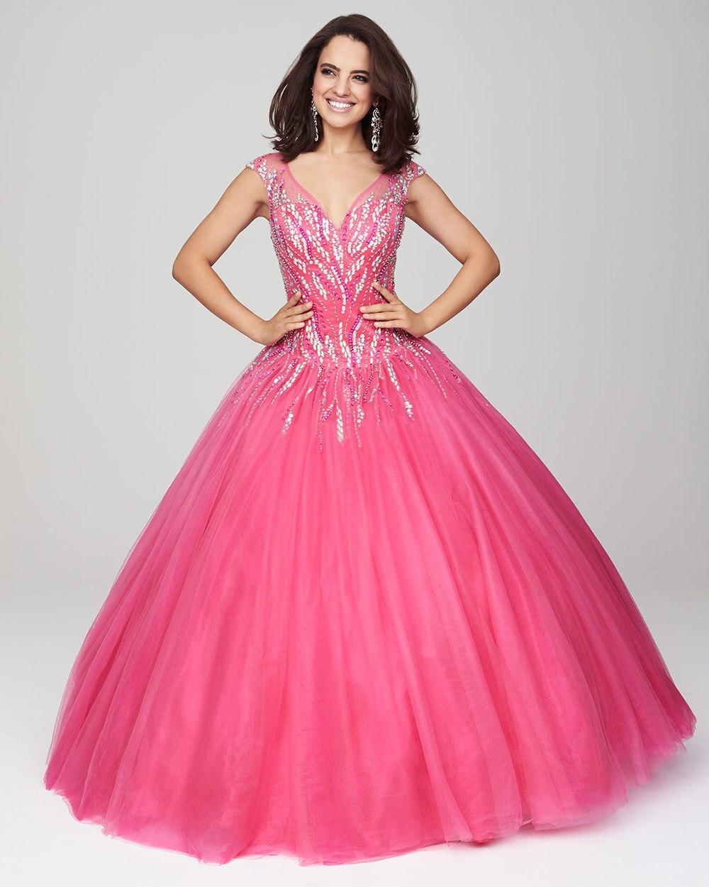 Barato elegante 2015 vestidos fiesta vestido con cuentas Top ...