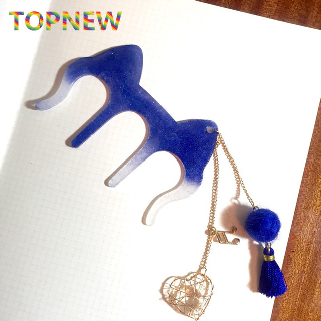 online shop flexible silicone mold cat ears shaped clips bookmarks