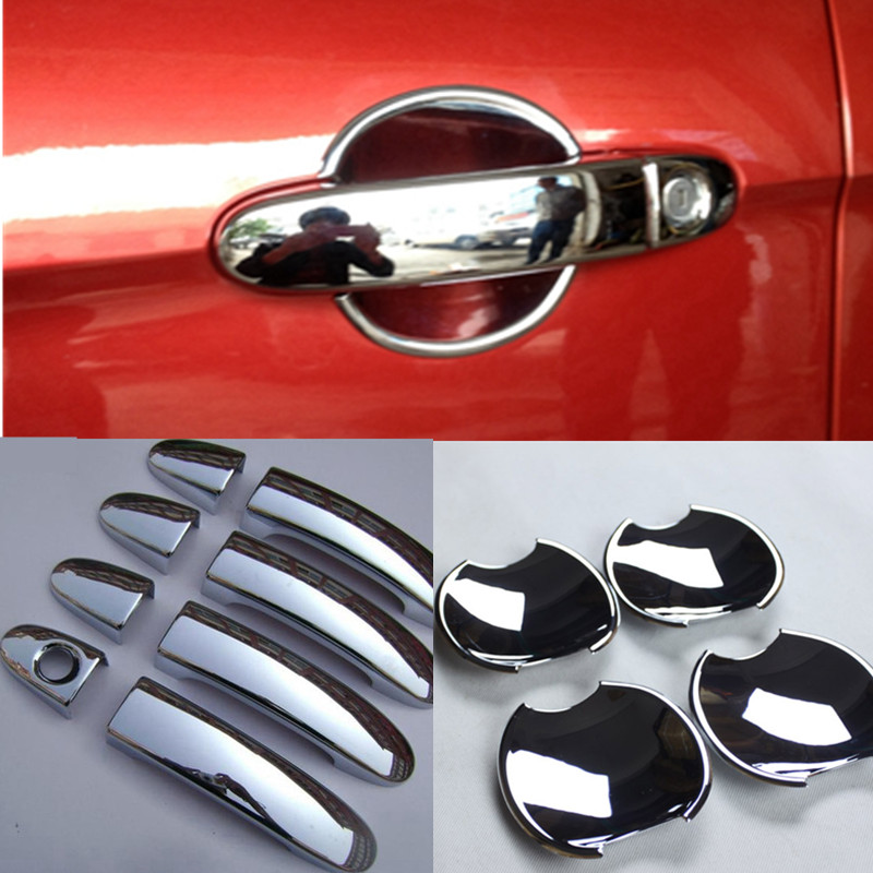font b Exterior b font Decoration Accessories Chrome Door Handle Cover Door Bowl Cover for